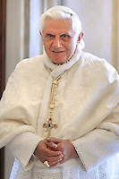 Pope Benedict XVI private library at the Vatican, May 30, 2009.