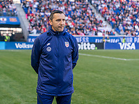 HARRISON, NJ - MARCH 08: Vlatko Andonovski of the United States stands on the field during a game between Spain and USWNT at Red Bull Arena on March 08, 2020 in Harrison, New Jersey.