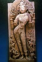 India: The Goddess Sarasvati by Sculptor Jagadeva, 1153 A.D.  A Jain Divinity.