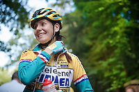 Nikki Harris (GBR/Telenet-Fidea) at the start<br /> <br /> GP Neerpelt 2014