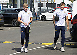 St Johnstone v Fleetwood Town…24.07.21  McDiarmid Park<br />Ali McCann and Callum Hendry arrive at McDiarmid Park ahead of today's pre-season friendly against Fleetwood Town<br />Picture by Graeme Hart.<br />Copyright Perthshire Picture Agency<br />Tel: 01738 623350  Mobile: 07990 594431