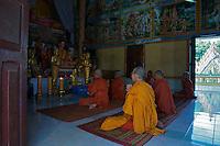 Phnom Ek Monastery and Khmer temple located in the rural parts of Battambang, Cambodia