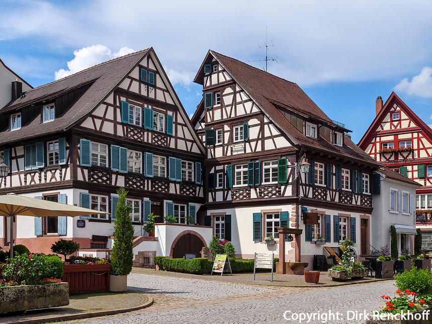 Fachwerkhäuser, Gengenbach, Ortenaukreis, Baden-Württemberg, Deutschland, Europa<br /> half-timbered houses, Gengenbach, Ortenaukreis, Baden-Wuerttemberg, Germany, Europe