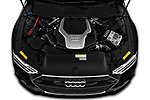Car stock 2019 Audi A7 Prestige 5 Door Hatchback engine high angle detail view