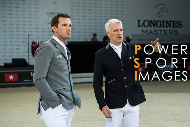 Walk the Course prior to the Longines Speed Challenge during the Longines Masters of Hong Kong at AsiaWorld-Expo on 10 February 2018, in Hong Kong, Hong Kong. Photo by Diego Gonzalez / Power Sport Images