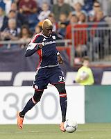 New England Revolution forward Saer Sene (39) on a scoring run. In a Major League Soccer (MLS) match, the New England Revolution tied Houston Dynamo, 2-2, at Gillette Stadium on May 19, 2012.