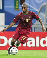 Miguel (13) in action for Portugal. Portugal defeated Mexico 2-1 in their FIFA World Cup Group D match at FIFA World Cup Stadium, Gelsenkirchen, Germany, June 21, 2006.