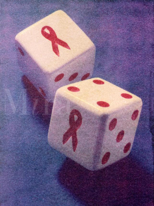 Aids dice, health gamble