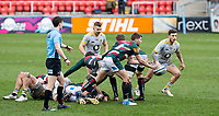 20th February 2021; Welford Road Stadium, Leicester, Midlands, England; Premiership Rugby, Leicester Tigers versus Wasps; Richard Wigglesworth of Leicester Tigers passing the ball along the line after a maul