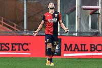 Marko Pjaca of Genoa CFC celebrates after scoring the goal of 1-1 during the Serie A football match between Genoa CFC and AS Roma at Marassi Stadium in Genova (Italy), November 11th, 2020. Photo Image Sport / Insidefoto