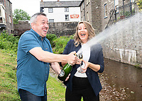 2018 06 19 Couple win lottery in Talgarth, Wales, UK