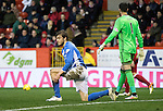 Aberdeen v St Johnstone…10.12.16     Pittodrie    SPFL<br />Murray Davidson reacts to his missed chance<br />Picture by Graeme Hart.<br />Copyright Perthshire Picture Agency<br />Tel: 01738 623350  Mobile: 07990 594431