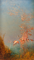 ActiveMuseum_0000042.jpg / Flight of Flamingo, pond of Vaccares - Felix Ziem - <br />06/06/2013  -  <br />Active Museum / Le Pictorium