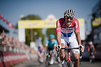 Mathieu Van Der Poel (NED/Correndon-Circus) wins the 54th Amstel Gold Race 2019 (1.UWT) after an incredible race finale where he returned from a beaten position (chasing with 40 seconds down on the race leaders with 3km to go!), but ending up beating everybody in the sprint to the finish (a finale that will go down in the history books!)<br /> <br /> One day race from Maastricht to Berg en Terblijt (NED/266km)<br /> <br /> ©kramon