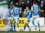 St Johnstone v Celtic…05.02.17     SPFL    McDiarmid Park<br />David Wotherspoon celebrates saints second goal<br />Picture by Graeme Hart.<br />Copyright Perthshire Picture Agency<br />Tel: 01738 623350  Mobile: 07990 594431