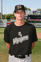 August 14, 2009: Justin Collop of the Great Falls Voyagers. The Voyagers are Pioneer League affiliate for the Chicago White Sox. Photo by: Chris Proctor/Four Seam Images