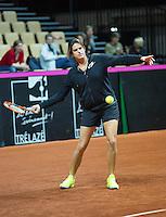 2016, 12 April, Arena Loire, Trélazè,  Semifinal FedCup, France-Netherlands, French captain Amelie Mauresmo<br /> Photo:Tennisimages/Henk Koster