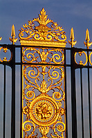 France, Paris, gate to the Tuillieries, gold leaf