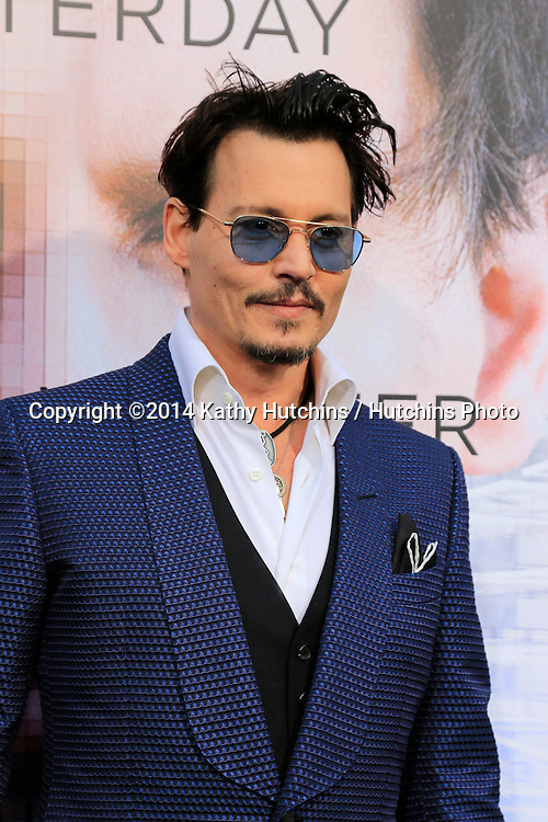 """LOS ANGELES - APR 10:  Johnny Depp at the """"Transcendence"""" Premiere at Village Theater on April 10, 2014 in Westwood, CA"""
