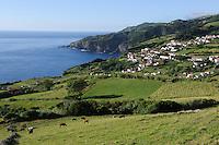 Küste südlich von Santa Cruz auf der Insel Flores, Azoren, Portugal