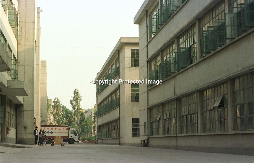 """07/11/97:  TELLY TUBBY:  CHINA, TOYS :  <br /> <br /> DOR-LOK TOY FACTORY,  AT  BUJI IND. ZONE PAN TIN DISTRICT (OUTSIDE SHENZHEN), CHINA.  THE FACTORY MAKES THE """"TELLY TUBBY"""", TOYS ."""