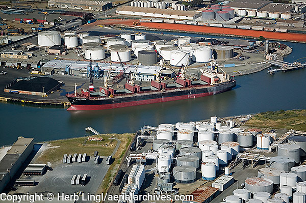 aerial photograph of the Port of Richmond, California