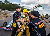 Richie Crampton, DHL, top fuel, victory, celebration, trophy, crew