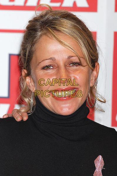 LUCY BENJAMIN.TV Quick Awards At The Dorchester, London.Ref: Ten.headshot, portrait, hoop earrings.www.capitalpictures.com.sales@capitalpictures.com.©Capital Pictures