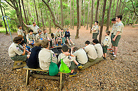 A Boy Scout worship service held at Huntington Beach State Park.