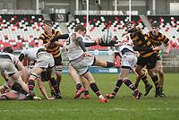 Wednesday 7th March 2018 |  RBAI vs Royal School Armagh<br /> <br /> Charlie Worth during the Ulster Schools Cup Semi-Final between RBAI vs Royal School Armagh Stadium, Ravenhill Park, Belfast, Northern Ireland. Photo by John Dickson / DICKSONDIGITAL
