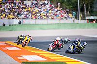 VALENCIA, SPAIN - NOVEMBER 8: Marcel Schrotter, Jonas Folger during Valencia MotoGP 2015 at Ricardo Tormo Circuit on November 8, 2015 in Valencia, Spain