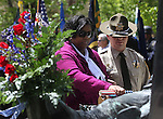 Family members of Corrections Officer Tracy Hardin place the baton during the 15th annual Nevada Law Enforcement Officers Memorial ceremony in Carson City, Nev., on Thursday, May 3, 2012. .Photo by Cathleen Allison