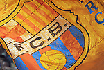 A FC Barcelona flag. Barcelona v Osasuna (0-1), La Liga, Nou Camp, Barcelona, 23rd May 2009.