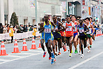 Feb. 27, 2010 - Tokyo, Japan - Hailu Nekonnen of Ethiopia (second runner behind the first) is seen passing through the Ginza district. Hailu ends up coming in first to cross the finish line. Some 36,000 runners participated in this fifth edition of the Tokyo Marathon.