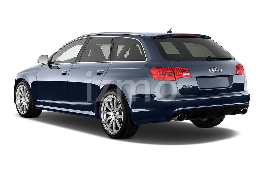 Rear three quarter view of a 2008 - 2013 Audi RS6 5 Door Wagon 4WD.
