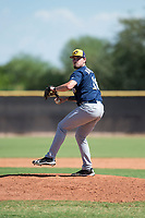 Milwaukee Brewers relief pitcher Wade Beasley (16) delivers a pitch during an Instructional League game against the San Diego Padres at Peoria Sports Complex on September 21, 2018 in Peoria, Arizona. (Zachary Lucy/Four Seam Images)
