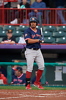 Portland Sea Dogs Luke Tendler (10) at bat during an Eastern League game against the Erie SeaWolves on June 17, 2019 at UPMC Park in Erie, Pennsylvania.  Portland defeated Erie 6-3.  (Mike Janes/Four Seam Images)