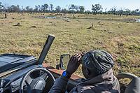 Africa, Botswana, Okavango Delta, Khwai private reserve our guide from Khwai Lodge.