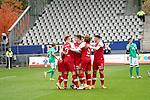 17.10.2020, Schwarzwald Stadion, Freiburg, GER, 1.FBL, SC Freiburg vs SV Werder Bremen<br /> <br /> im Bild / picture shows<br /> Philipp Lienhart (Freiburg) freut sich über das Tor zum 1:0<br /> <br /> Foto © nordphoto / Bratic<br /> <br /> DFL REGULATIONS PROHIBIT ANY USE OF PHOTOGRAPHS AS IMAGE SEQUENCES AND/OR QUASI-VIDEO.