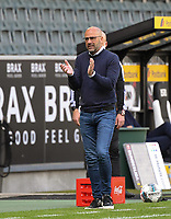 23rd May 2020, BORUSSIA-PARK, North Rhine-Westphalia, Germany; Bundesliga football, Borussia Moenchengladbach versus Bayer Leverkusen; Trainer Peter Bosz (Leverkusen)
