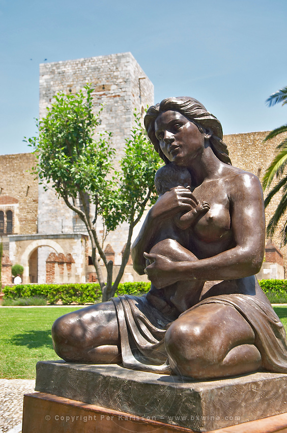 Sculpture by Aristide Maillol. Palais des Rois de Majorque, Palace of the Majorca Kings. Perpignan, Roussillon, France.