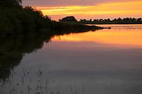 Abendstimmung an der Elbe, Sonnenuntergang