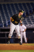 Bradenton Marauders relief pitcher Henry Hirsch (50) looks in for the sign during a game against the Tampa Yankees on April 11, 2016 at George M. Steinbrenner Field in Tampa, Florida.  Tampa defeated Bradenton 5-2.  (Mike Janes/Four Seam Images)
