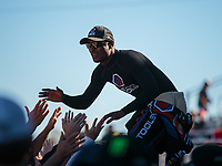 Sep 23, 2018; Madison, IL, USA; NHRA top fuel driver Antron Brown during the Midwest Nationals at Gateway Motorsports Park. Mandatory Credit: Mark J. Rebilas-USA TODAY Sports