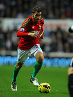 Saturday 17 November 2012<br /> Pictured: Angel Rangel of Swansea<br /> Re: Barclay's Premier League, Newcastle United v Swansea City FC at St James' Park, Newcastle Upon Tyne, UK.