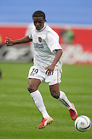 The MetroStars' Fabian Taylor. The New England Revolution tied the NY/NJ MetroStars one all at Gillette Stadium, Foxborough, MA, on May 22, 2004.