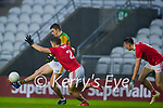 Sean Powter, Cork,  in action against Seán O'Shea, Kerry during the Munster GAA Football Senior Championship Semi-Final match between Cork and Kerry at Páirc Uí Chaoimh in Cork.