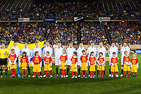 Germany (GER) players. The United States (USA) and Germany (GER) played to a 2-2 tie during an international friendly at Rentschler Field in East Hartford, CT, on October 23, 2012.