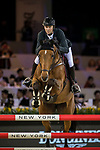 Patrice Delaveau of France riding Vestale de Mazure Hdc competes in the Masters One DBS during the Longines Masters of Hong Kong at AsiaWorld-Expo on 11 February 2018, in Hong Kong, Hong Kong. Photo by Ian Walton / Power Sport Images