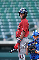 AZL D-backs Neyfy Castillo (17) at bat during an Arizona League game against the AZL Cubs 1 on July 25, 2019 at Sloan Park in Mesa, Arizona. The AZL D-backs defeated the AZL Cubs 1 3-2. (Zachary Lucy/Four Seam Images)